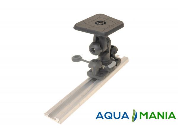Площадка Fasten (SLf223) 100*100 мм для эхолота и другого оборудования с набором для установки на С-образный профиль (SLt223+FFr222)
