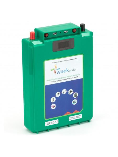 Літій-залізо-фосфатний акумулятор Weekender LiFePo-4 60 Ah 12V + заряд пристрій