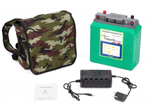 Літій-іонний акумулятор Weekender Li-ion 85 Ah 12V + зарядний пристрій