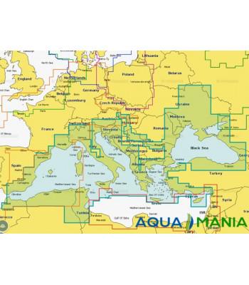 """Карта """"Днепр, Средиземное и Черное море (код 43XG)"""" NAVIONICS GOLD для Lowrance, Eagle, Humminbird - Описание карты"""