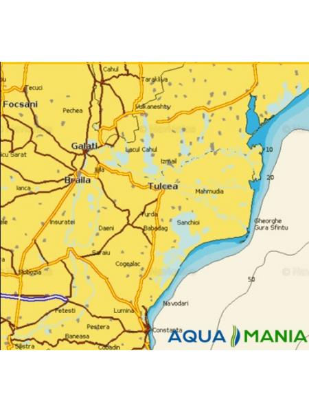 "Карта Navionics 5G611S2 "" гирлі річки ДУНАЙ (100 КМ) """