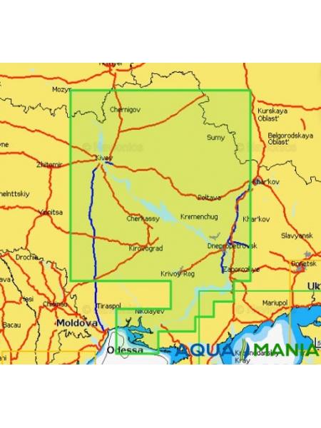 """Карта Navionics 5G612S2 """" РІКА ДНІПРО (ПОВНЕ ПОКРИТТЯ) """""""