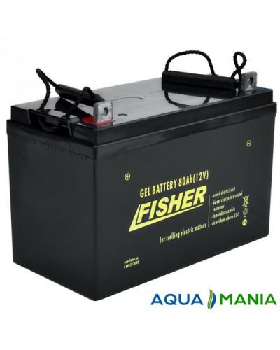 Човновий Електромотор Fisher 55 + два акумулятори гель 80Ah