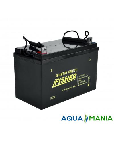 Човновий Електромотор Fisher 32 + акумулятор agm 80Ah