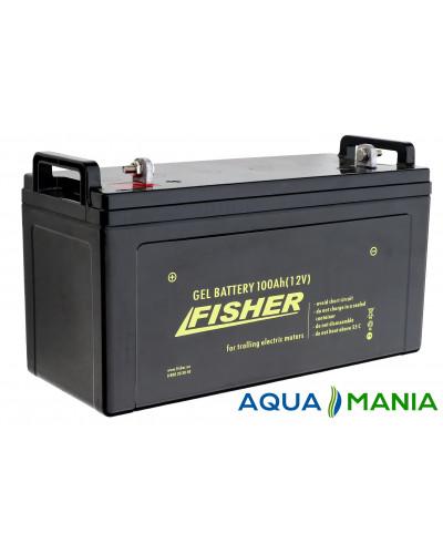 Лодочный Электромотор Fisher 36 + аккумулятор agm 100Ah