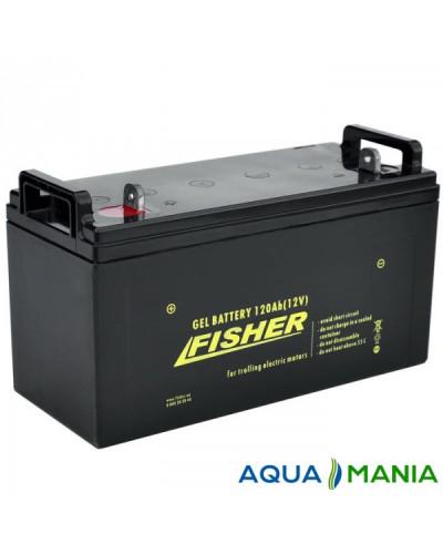 Лодочный Электромотор Fisher 46 + аккумулятор agm 120Ah