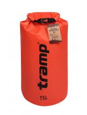 Гермомешок Tramp PVC (15л) оранжевый Diamond Rip-Stop