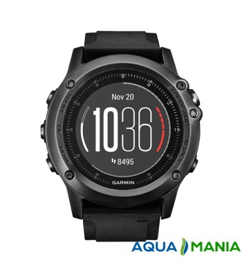 Навігатор на зап'ястя Garmin fenix 3 HR - Silver Edition with black silicone band
