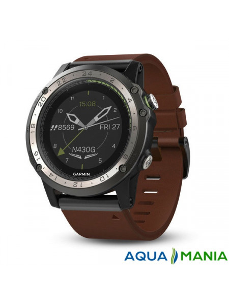 Навигатор на запястье Garmin D2 Charlie, Leather, GPS Aviation Watch