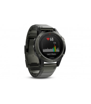 Навигатор на запястье Garmin fenix 5 Sapphire - Slate grey with metal band