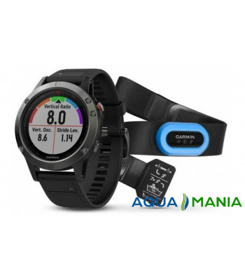 Навігатор на зап'ястя Garmin fenix 5 - Performer Bundle - Slate grey with black band