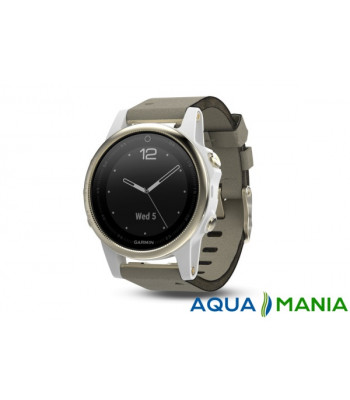 Навигатор на запястье Garmin fenix 5S Sapphire - Champagne with grey suede band