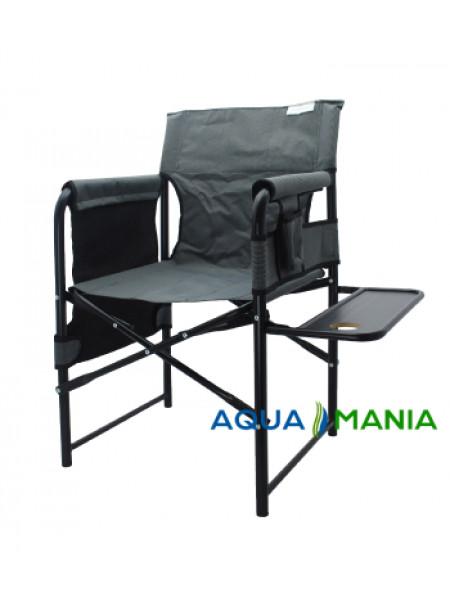 Крісло для риболовлі зі столиком AQUA MANIA сіре