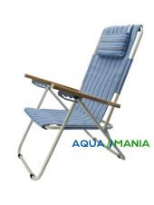 Кресло шезлонг AQUA MANIA голубое