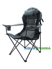 Кресло раскладное туристическое AQUA MANIA серое