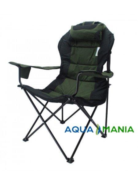 Кресло раскладное туристическое AQUA MANIA зеленое