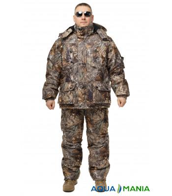Зимовий дихаючий костюм, штани напівкомбінезон осінній ліс розмір 46-62