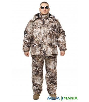 Зимний дышащий костюм, штаны полукомбинезон Белая рысь размер 46-62