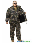 Зимний дышащий костюм, штаны полукомбинезон хвойный лес размер 42-63