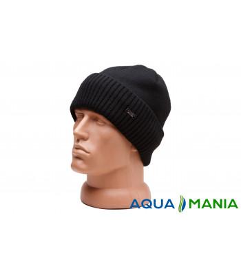 В'язана тепла шапка з підкладкою фліс