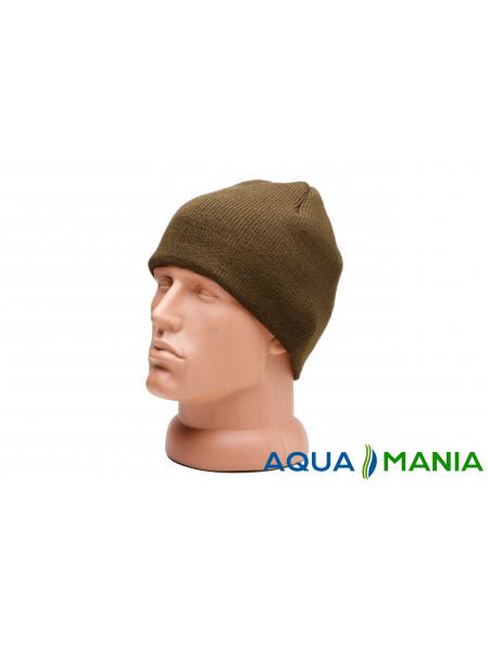 Теплая вязаная шапка с подкладкой из флиса