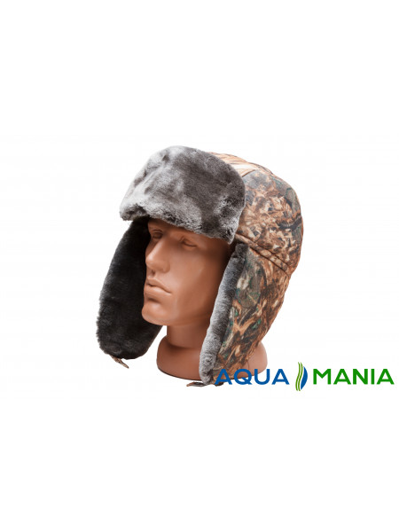 Шапка-ушанка зимняя камуфляж (камыш)
