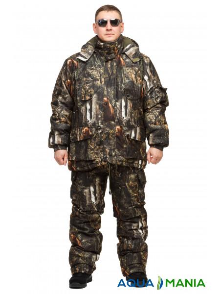 "Теплый зимний костюм из непромокаемой ткани Alova ""Бурый медведь"" до -30℃ размер 46-62"