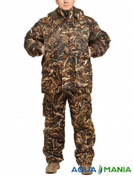 """Комплект теплой одежды для рыбалки и охоты """"Коричневый камыш"""" размер 46-62"""