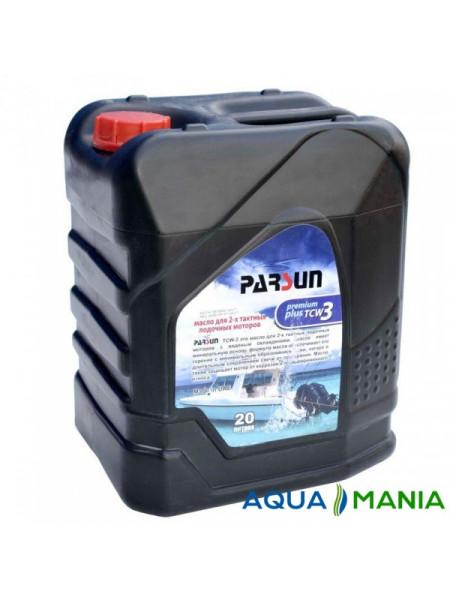 Масло Parsun для двухтактных двигателей,  TCW3 Premium Plus, 20 литров
