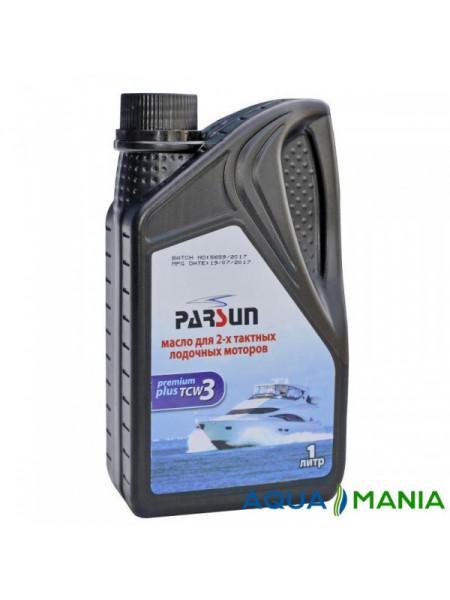 Масло Parsun для двухтактных двигателей,  TCW3 Premium Plus, 1 литр NEW