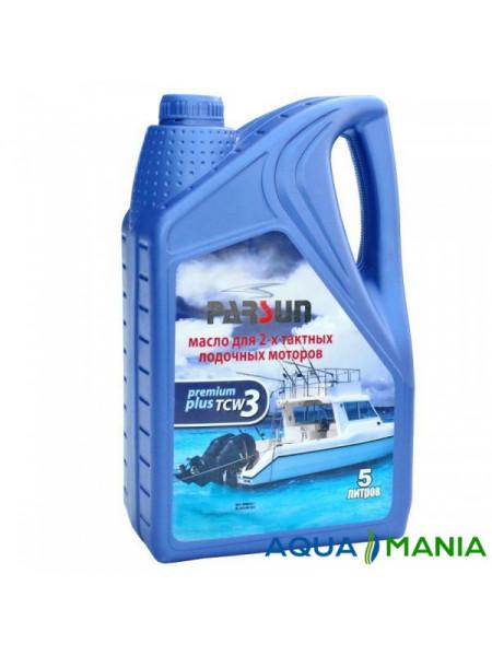 Масло Parsun  для двухтактных двигателей, TCW3 Premium Plus, 5 литров